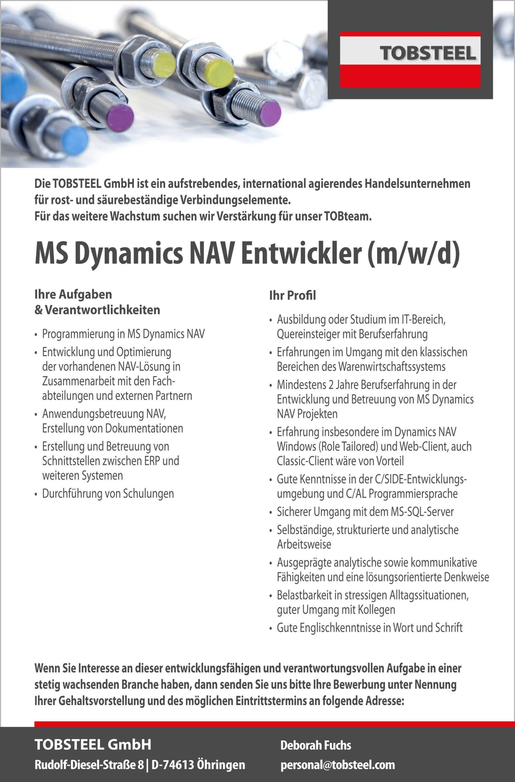 MS-Dynamics-NAV-Entwickler-Stellenanzeige-Öhringen