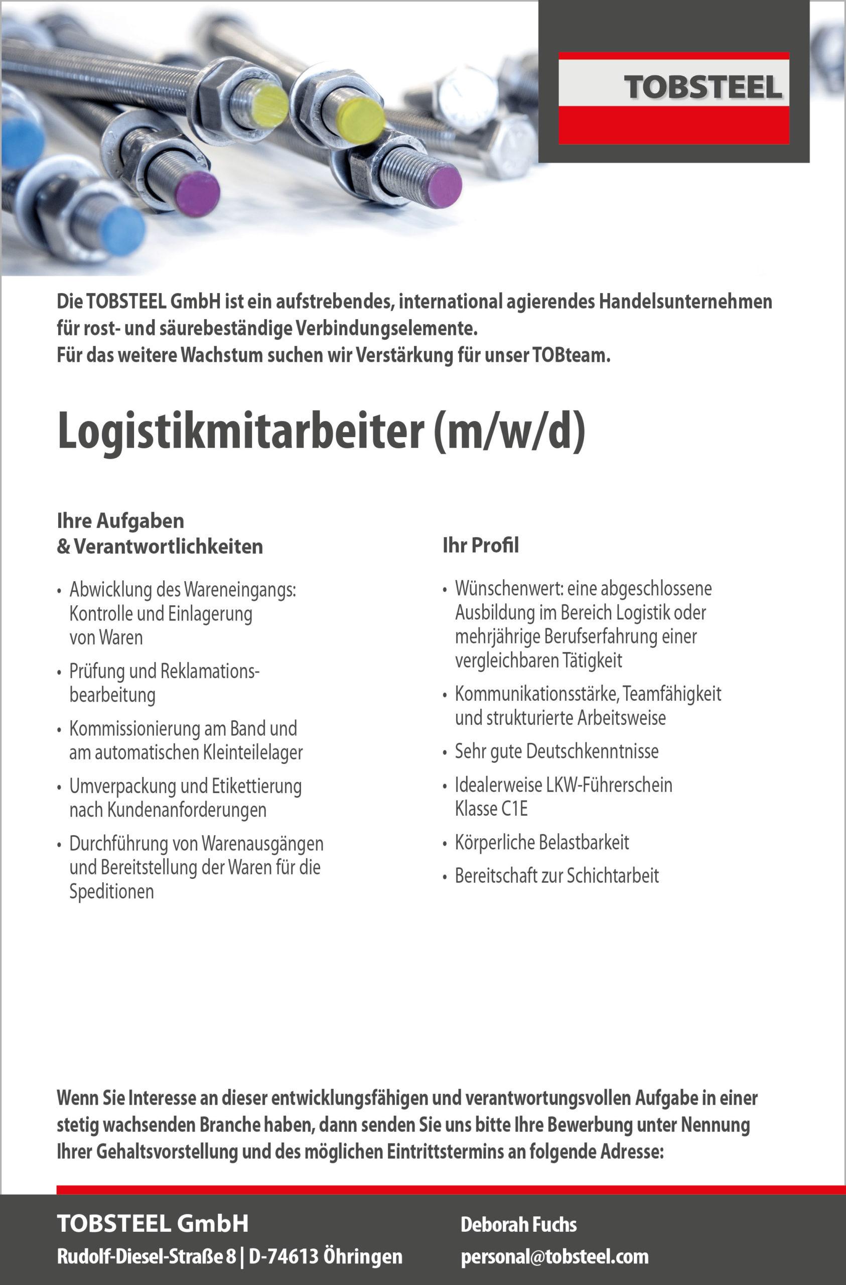 Vertrieb-Innendienst-Stellenanzeige-Öhringen